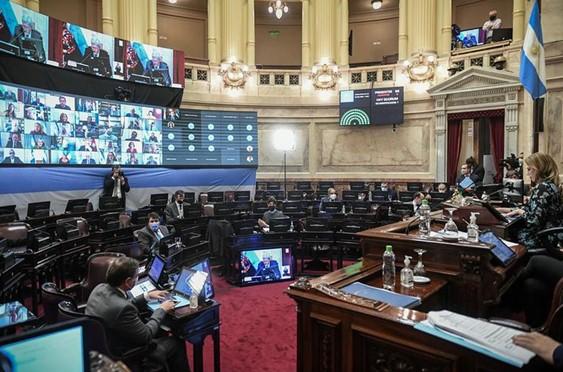 La sesión del Senado